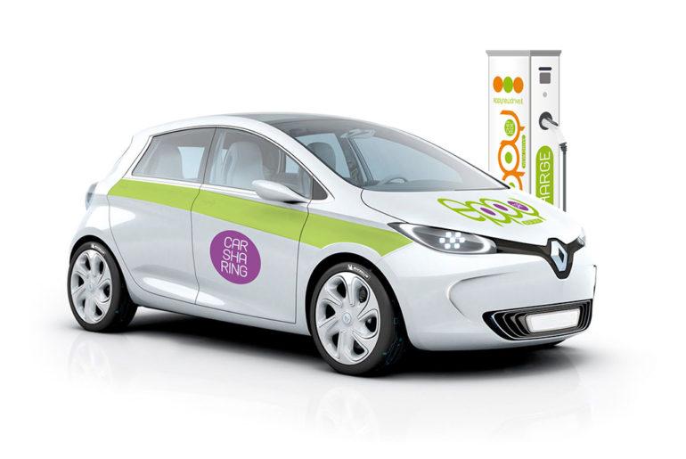 mobilità elettrica, car sharing elettrico latina